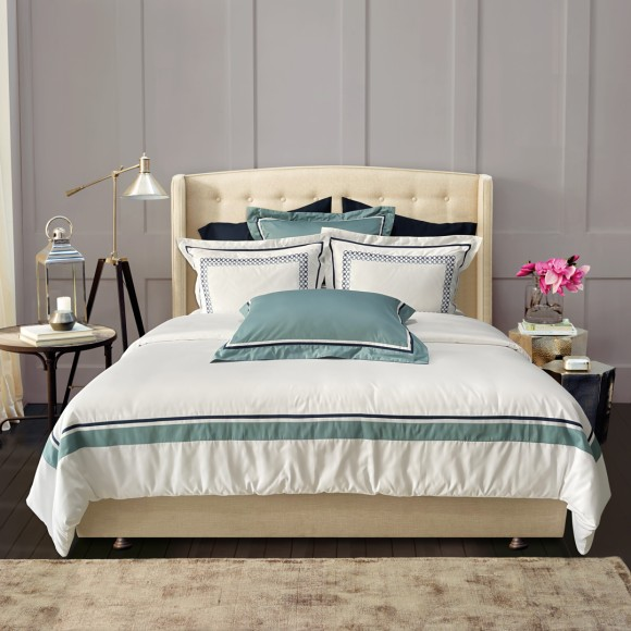 Nina MG Bed Sheet Set - Fullerton / Blue