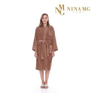 Nina MG Bath Robe Castanho / Kimono
