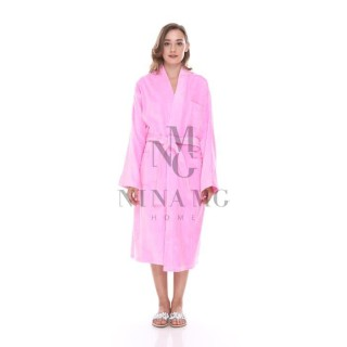 Nina MG Bath Robe - Terry / Pink