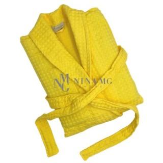 Nina MG Bath robe - Waffle / Yellow