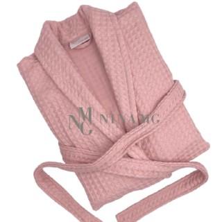 Nina MG Bath robe - Waffle / Pink