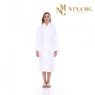 Nina MG Bath Robe - Terry / White