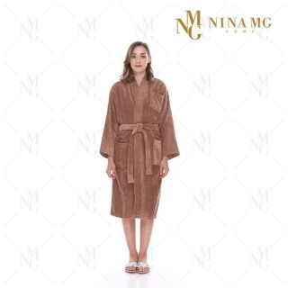 Nina MG Bath Robe - Terry / Brown