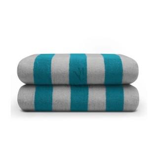 Nina MG Pool Towel - Dark Green / Lg Gray