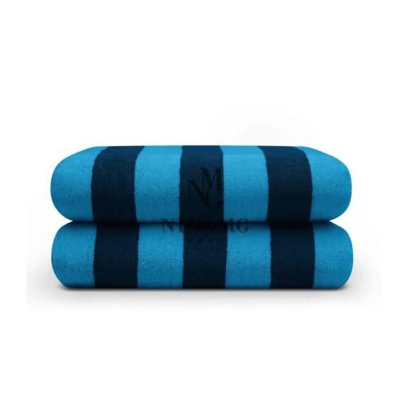 Nina MG Pool Towel - Md Blue / Dark Blue