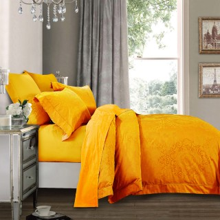 Nina MG Quilt Cover Set - Piero / Orange