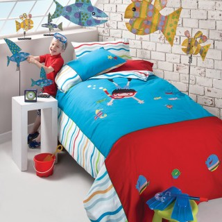 Aussino Kids Embroidery Quilt Cover Set - Underwater