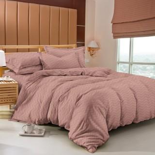 Tomomi Bed Cover Set  - Aimi / Rust