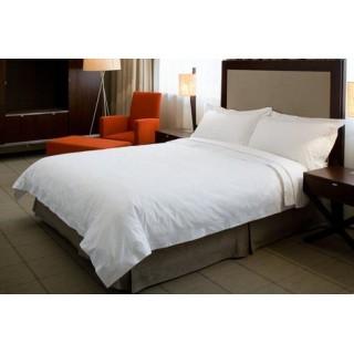 NINA MG Flat Sheet Solid White Cotton 300 TC
