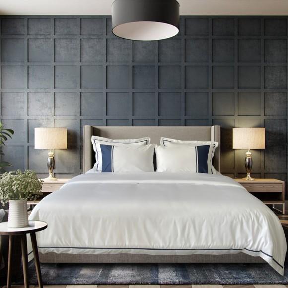 Nina MG Bed Sheet Set - Fremont / Navy