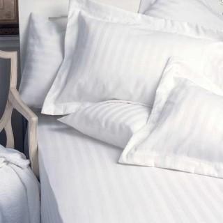 NINA MG Pillow Case With Sham Dobby Stripe 300 TC - 3cm