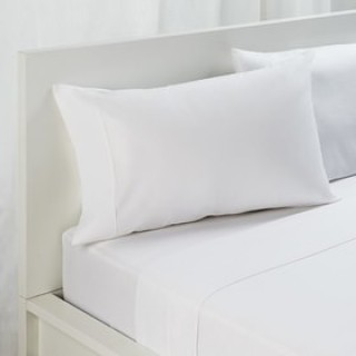 NINA MG Pillow Case Solid White CVC 300 TC - 52X75